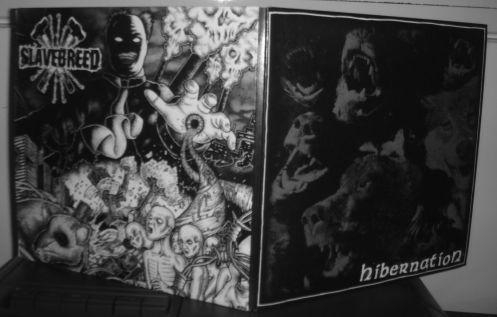 """HIBERNATION/SLAVEBREED split-7"""" (front)"""