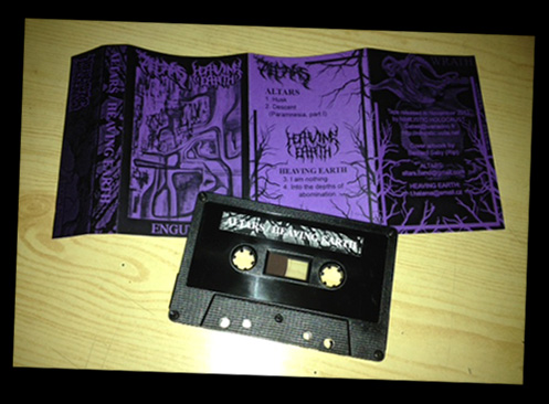 ALTARS / HEAVING EARTH: Split tape