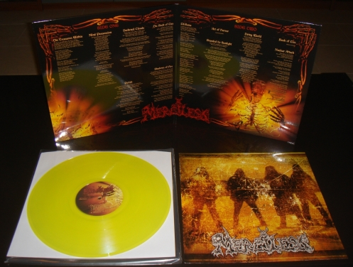 """MERCILESS (SWE) """"The Treasures Within"""" limited LP"""