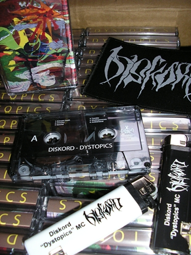 "DISKORD ""Dystopics"" limited MC + patch + lighter/bottle opener!!!"