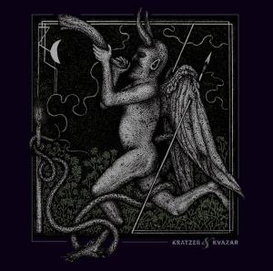 KRATZER/KVAZAR split-LP cover artwork by Viral Graphics