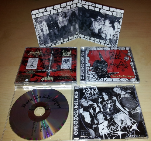 "NECRODEATH / GHOSTRIDER  ""Back To The Abyss"" CD"