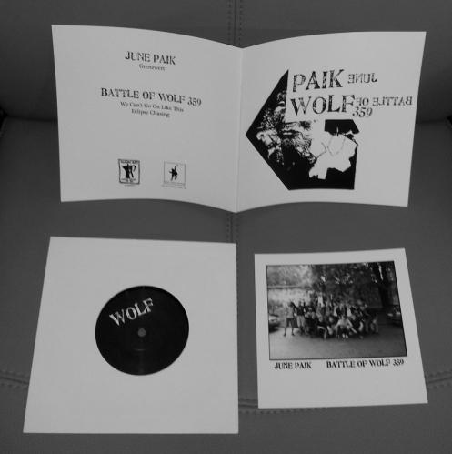 """JUNE PAIK / BATTLE OF WOLF 359 """"split"""" 7INCH"""