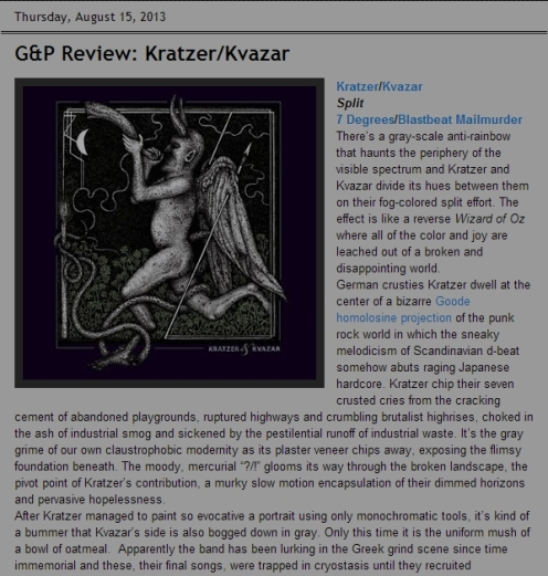 G&P Review: Kratzer/Kvazar