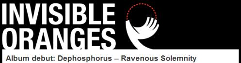 """Ravenous Solemnity"" exclusive stream @ Invisible Oranges!"