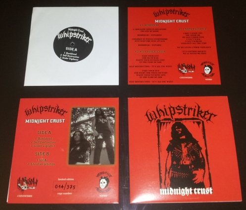 "WHIPSTRIKER ""Midnight Crust"" 7""EP"