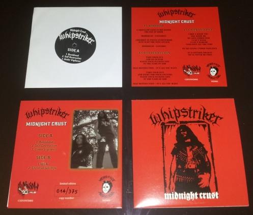 """WHIPSTRIKER """"Midnight Crust"""" 7""""EP"""