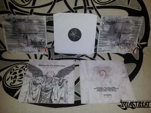 """FROSTMOON ECLIPSE/SOMRAK/THE STONE/HORNED ALMIGHTY """"Waiting for the Darkest Day"""" 4-way split-LP"""